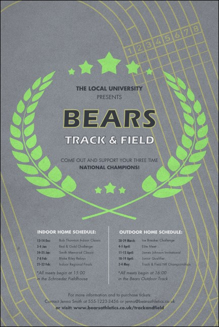 Track and Field Poster