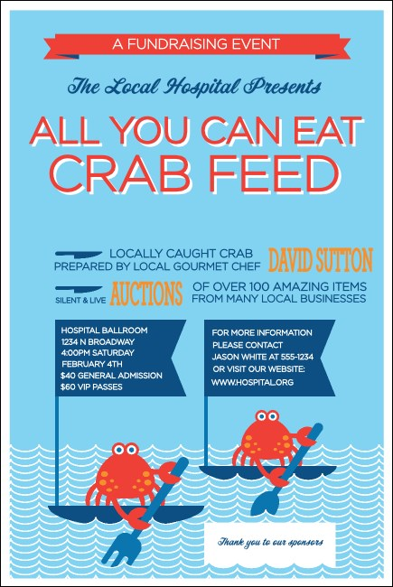 Crab Feed Poster