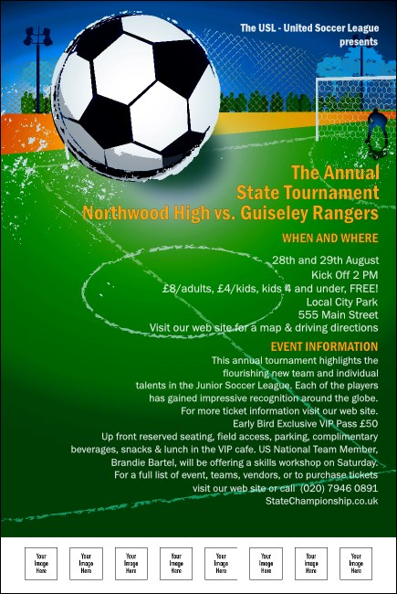 Soccer Tournament Poster Template More Information