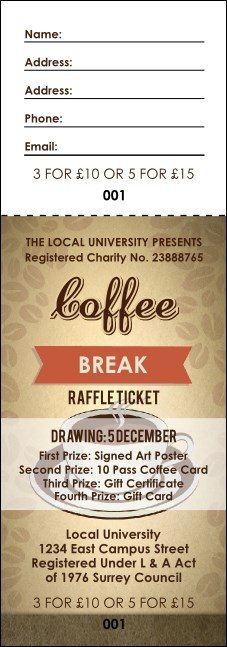 Coffee Raffle Ticket