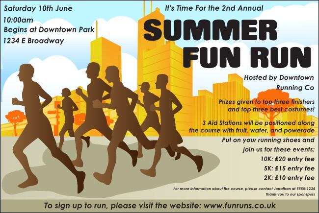 fun run logo flyer
