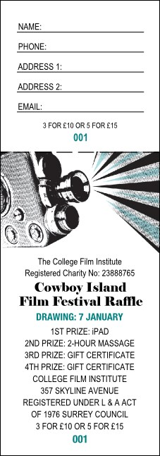 Film Festival Raffle Ticket