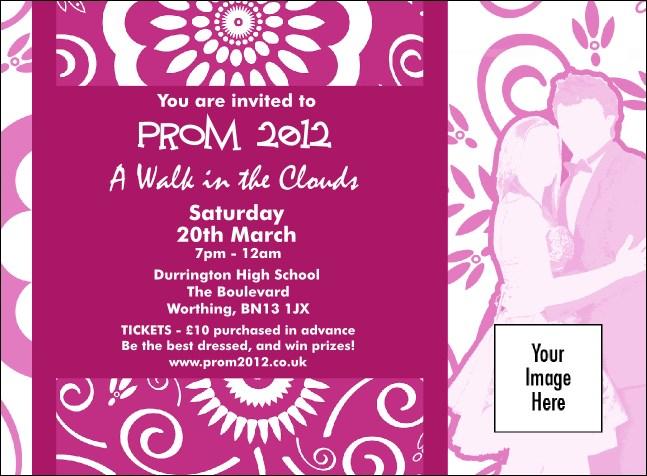 Fuchsia Prom Invitation