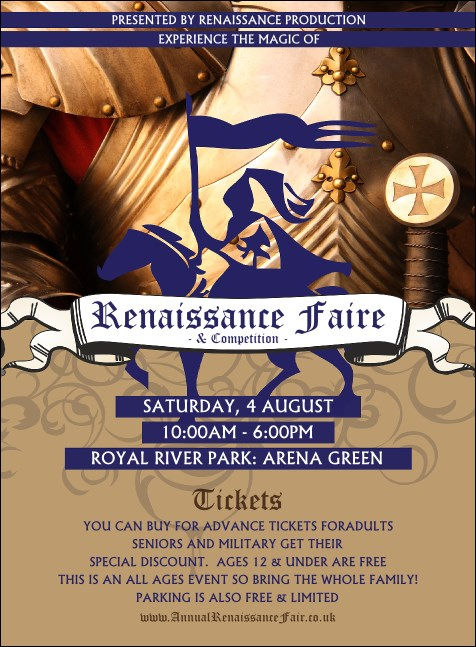 Renaissance Fair Armor Invitation