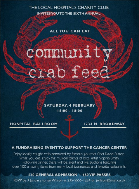 Crab Dinner Invitation