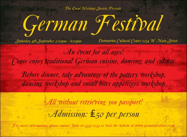 German Flag Invitation