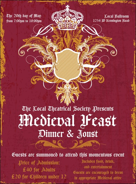 medieval banquet invitation