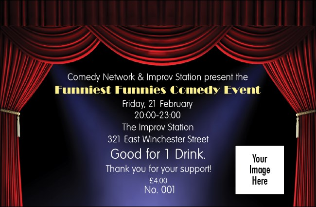 Stand Up Comedy Drink Ticket