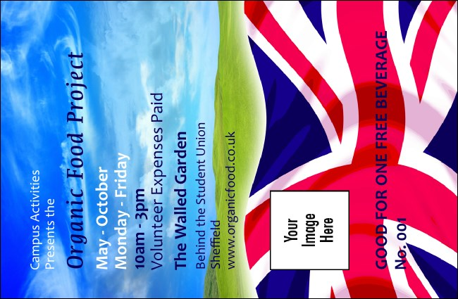 Union Flag 2 Drink Ticket