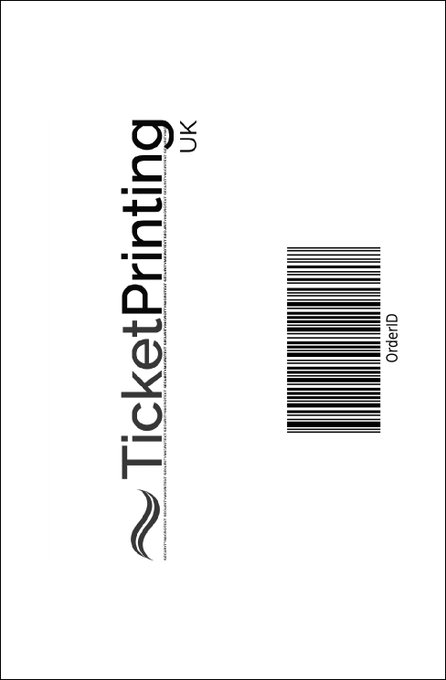 Classic Black Pinstripe Drink Ticket Product Back