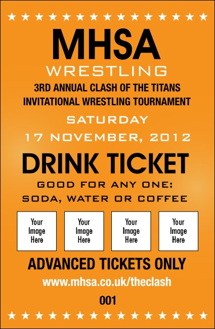 Versus All Purpose Drink Ticket (Orange)