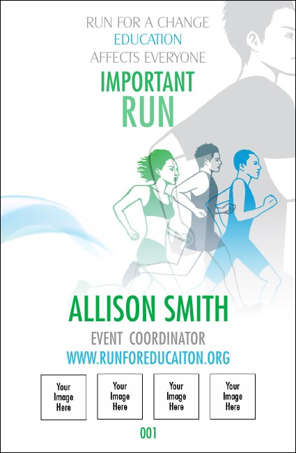 Run for a Cure Blue & Green Drink Ticket Product Front