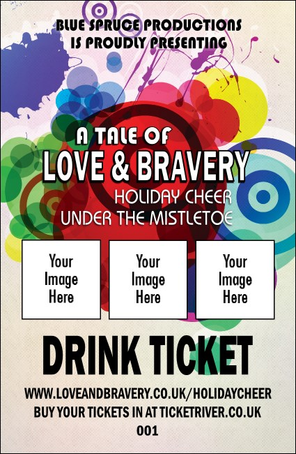 Colour Circles Drink Ticket Product Front