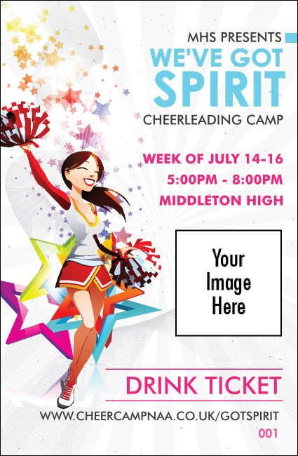 Cheerleading Spirit Drink Ticket