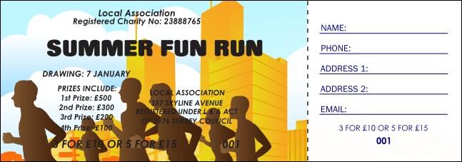 fun run raffle ticket