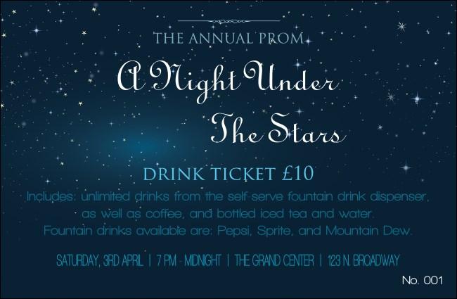 Theme Drink Ticket