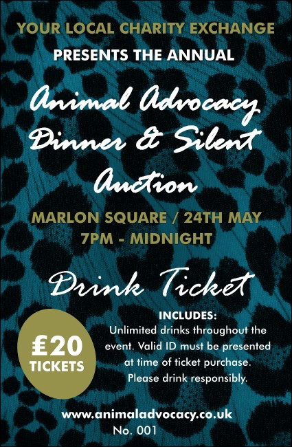 Animal Print Drink Ticket