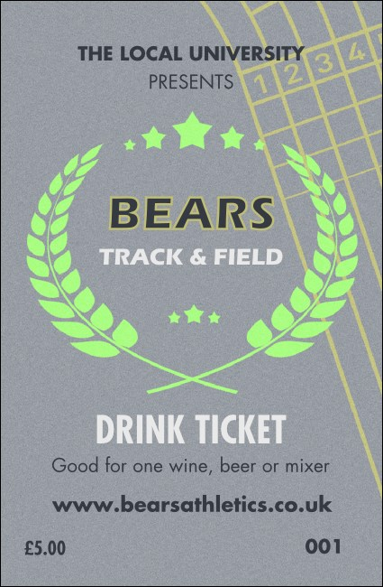 Track and Field Drink Ticket