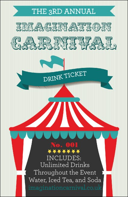 Carnival Monkey Drink Ticket