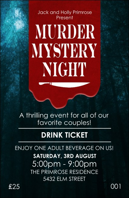 Murder Mystery Drink Ticket