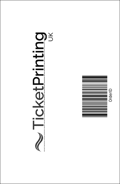 Red and Silver Drink Ticket Product Back