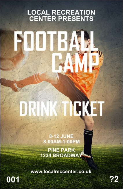 Football Camp Drink Ticket