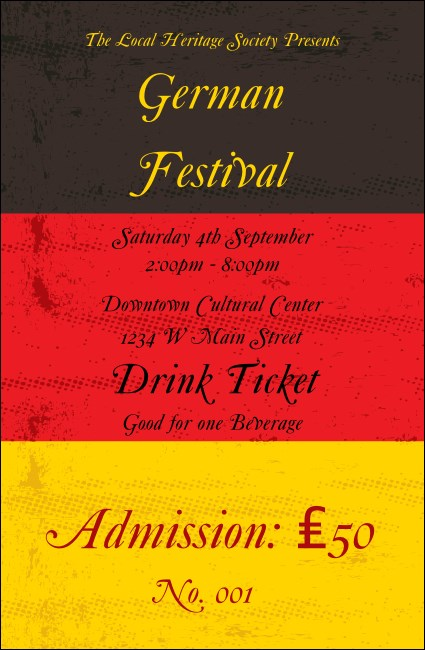 German Flag Drink Ticket