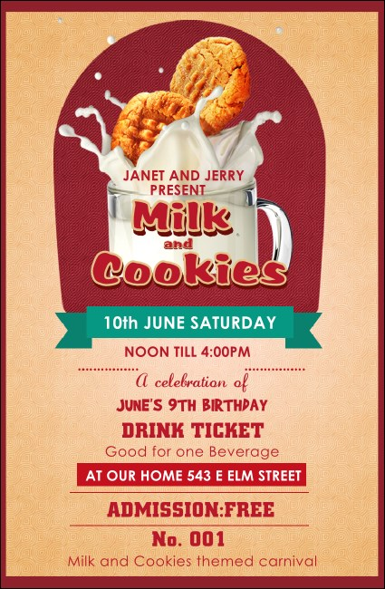 Milk & Cookies Drink Ticket