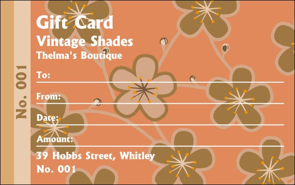 Retro Flowers Gift Card