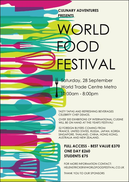 World Food Festival Postcard