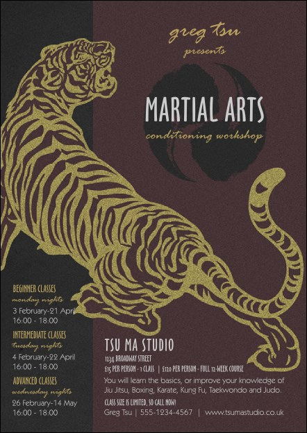 Martial Arts Postcard