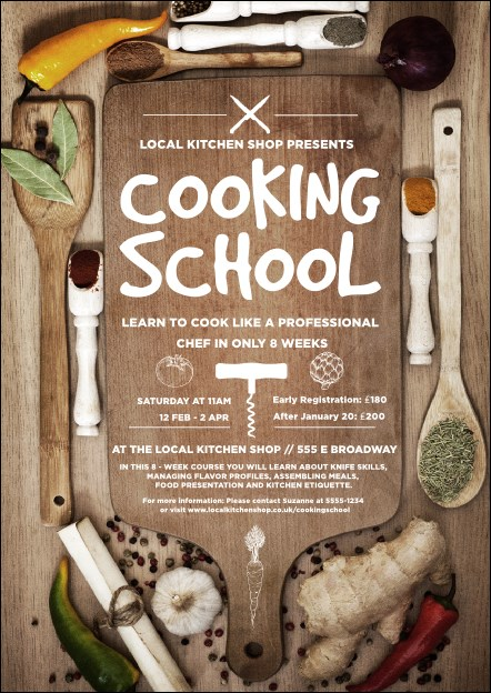 Cooking School Postcard