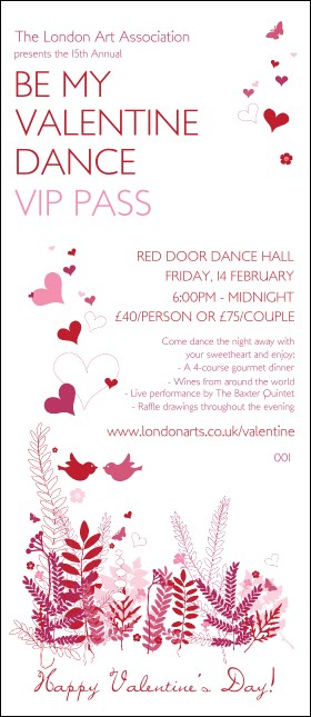 Valentine Love Birds VIP Pass