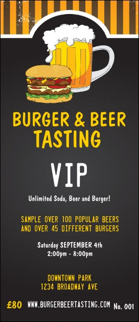 Burgers and Beer VIP Pass