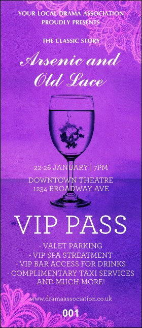 Arsenic & Old Lace VIP Pass