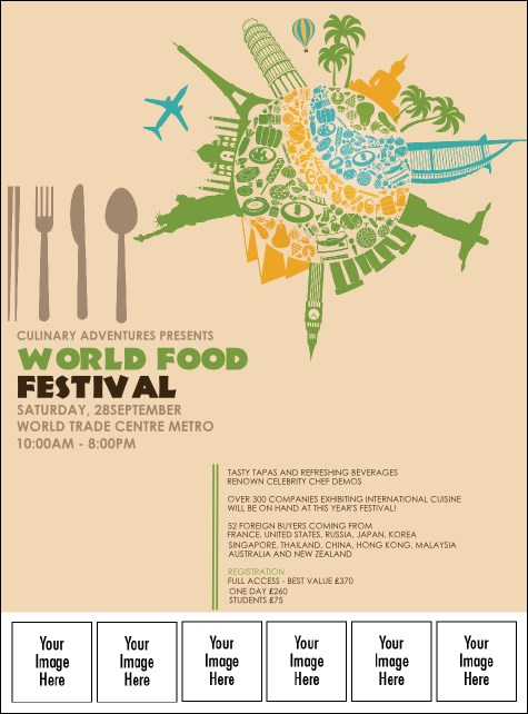 Food Festival Logo Flyer