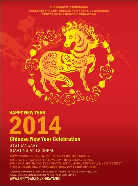 chinese new year 2014 flyer - Chinese New Year 2014