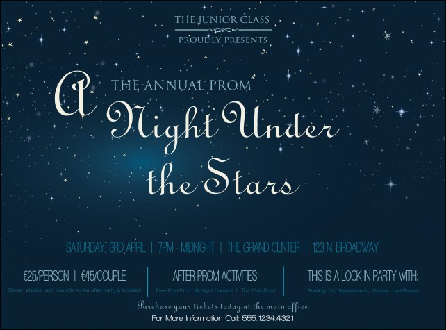 Star Theme Flyer Product Front