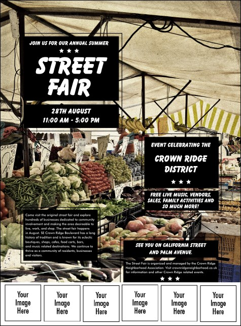 Street Fair Market Logo Flyer