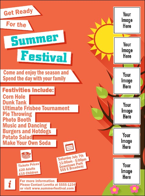Summer Cut Paper Logo Flyer