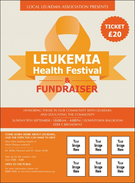 Leukemia Logo Flyer