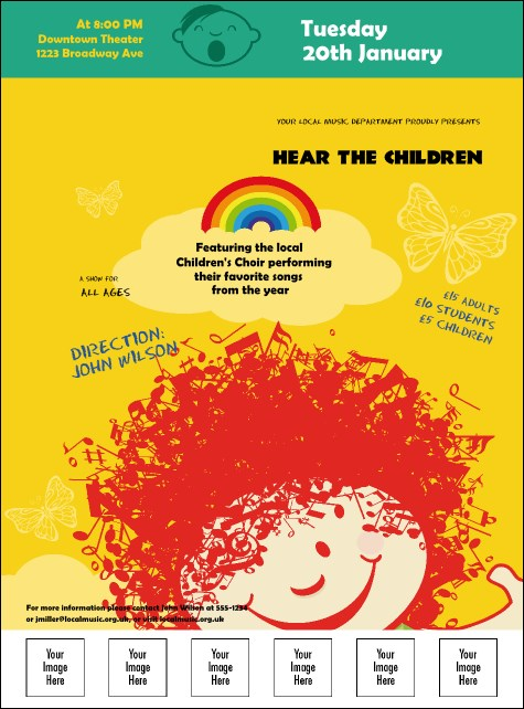 Children's Music Logo Flyer