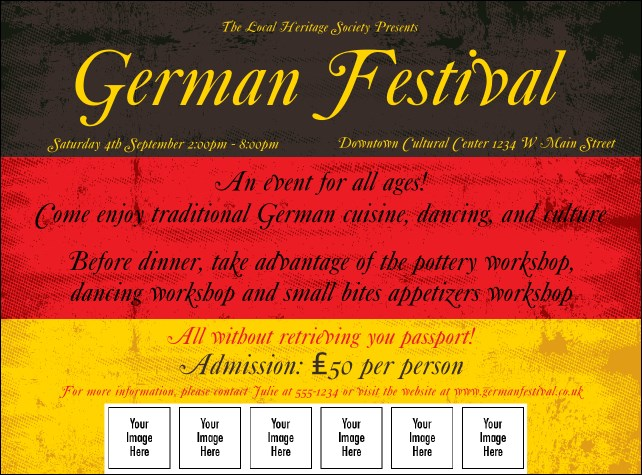 German Flag Logo Flyer