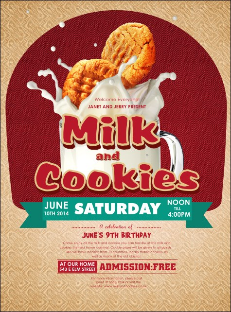 Milk & Cookies Flyer