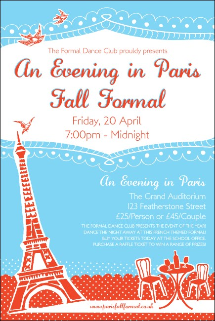 Whimsical Paris Poster