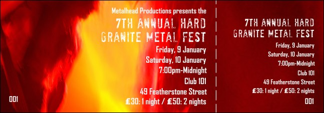 Heavy Metal Event Ticket