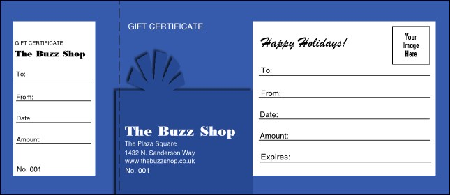 Present Gift Certificate (blue)