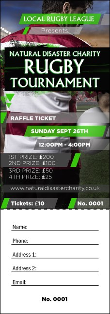 Rugby Stadium Raffle Ticket Product Front
