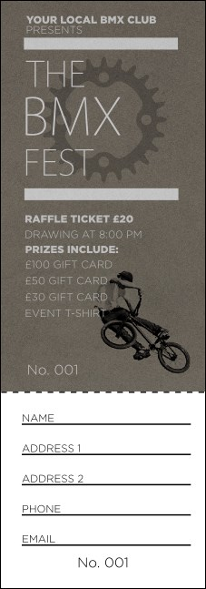 BMX Raffle Ticket Product Front