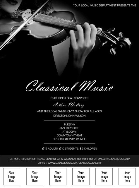 Classical Music Image Flyer